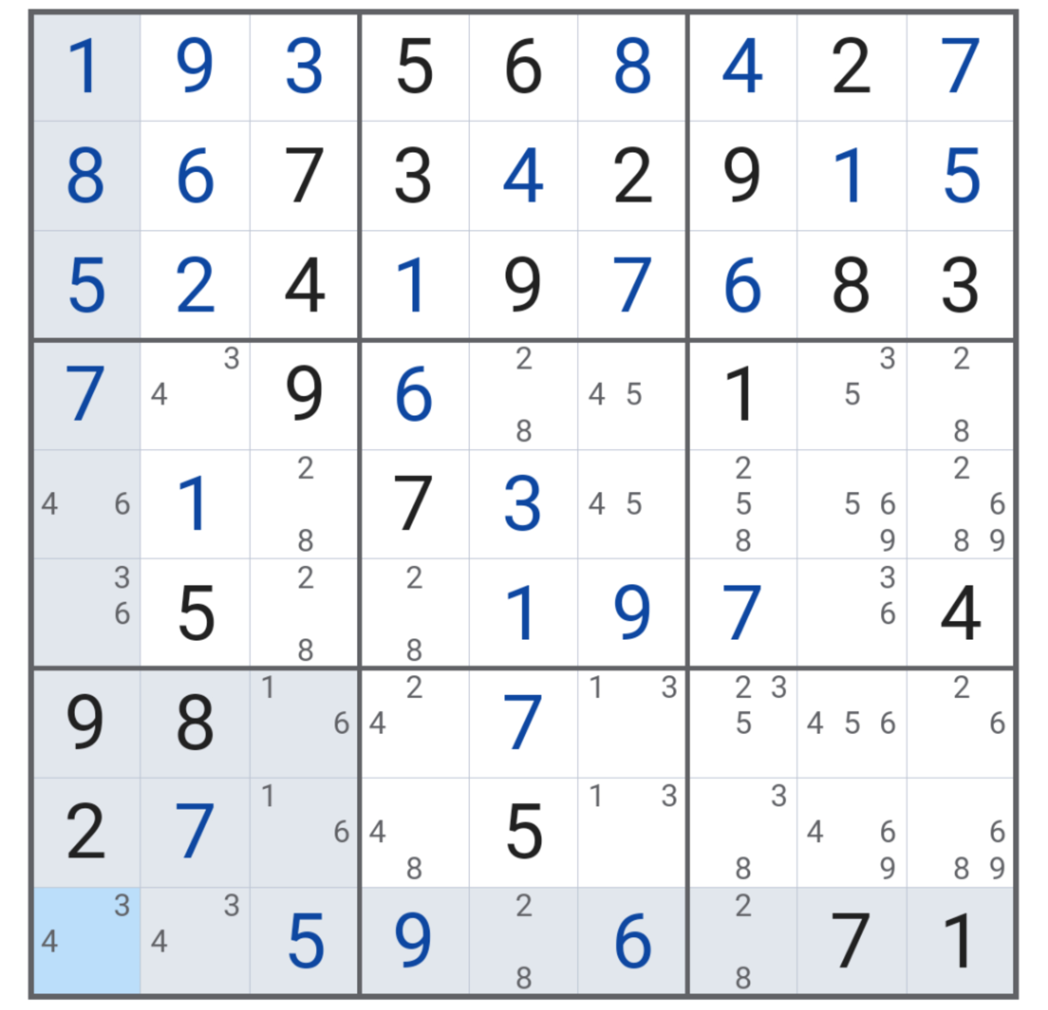 Stuck, How Do I Find Any X-Wings Or Swordfishes? : Sudoku