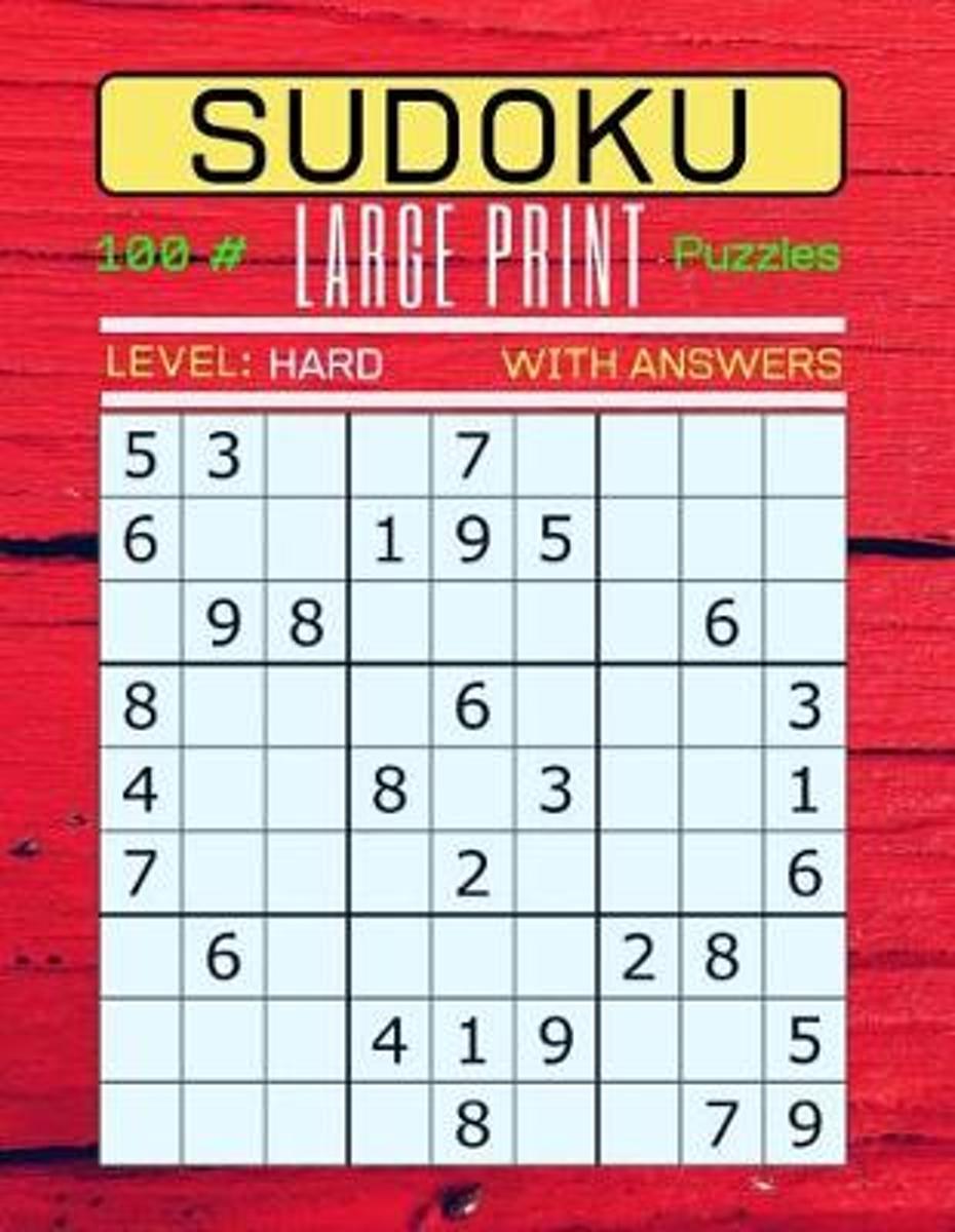 Sudoku 100 Large Print Puzzles Level Hard