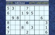 Medium Level Printable Sudoku Medium