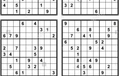 Easiest Four Grid Sudoku Printable