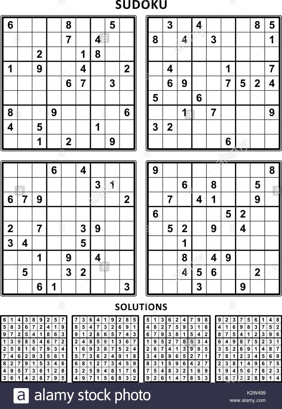 Sudoku Black And White Stock Photos & Images - Alamy