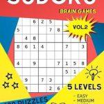 Sudoku Brain Games Vol.2 400 Puzzles Large Print   5 Levels Easy Medium  Hard Expert Special