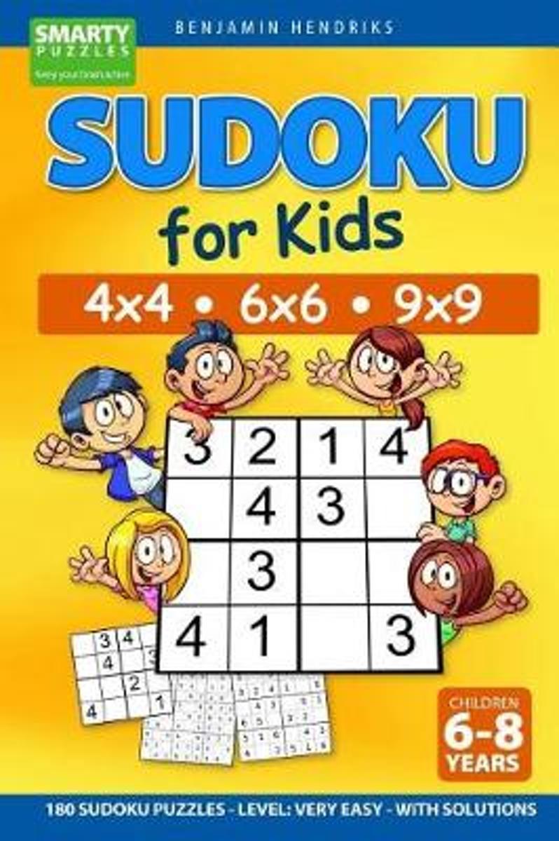 Sudoku For Kids 4X4 - 6X6 - 9X9 180 Sudoku Puzzles - Level