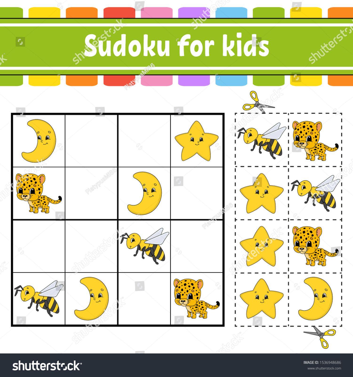 Sudoku For Kids. Education Developing Worksheet. Activity