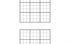 Printable Blank Sudoku Puzzle Grids