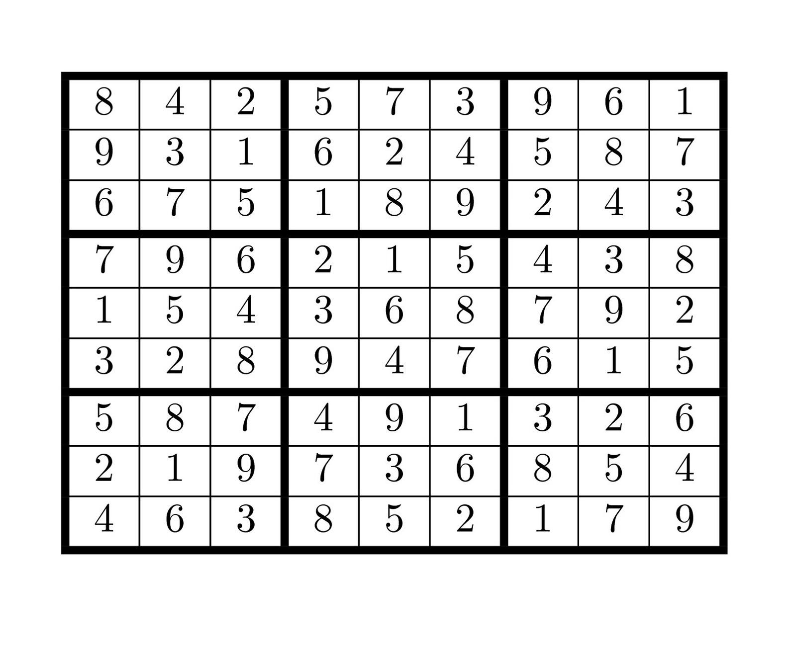 Sudoku High Fives Game Printable | Printable Shelter
