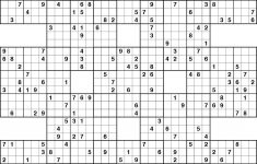 Printable Super Samurai Sudoku
