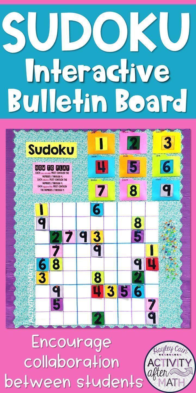 Sudoku Interactive Bulletin Board Kit | Classroom Decor