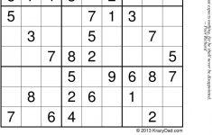 Sudoku Printable Krazydad