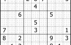 Online Free Sudoku Printable