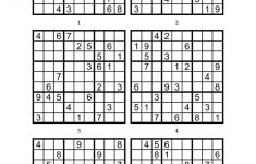 Sudoku Printable Medium 6 Per Pageaaron Woodyear – Issuu