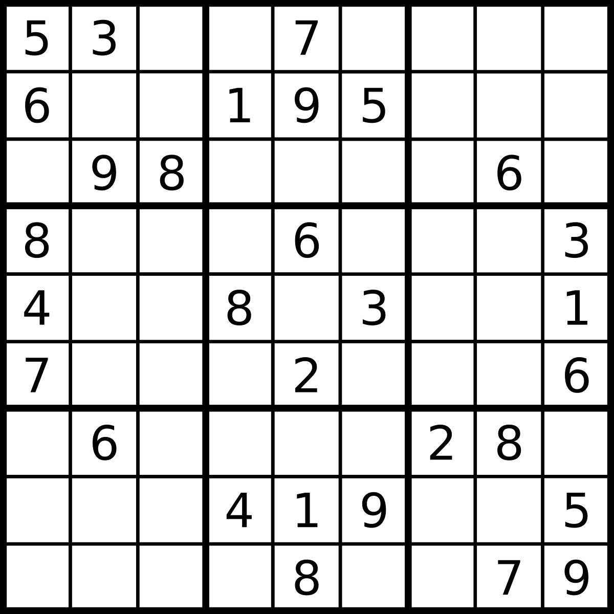 Sudoku - Simple English Wikipedia, The Free Encyclopedia