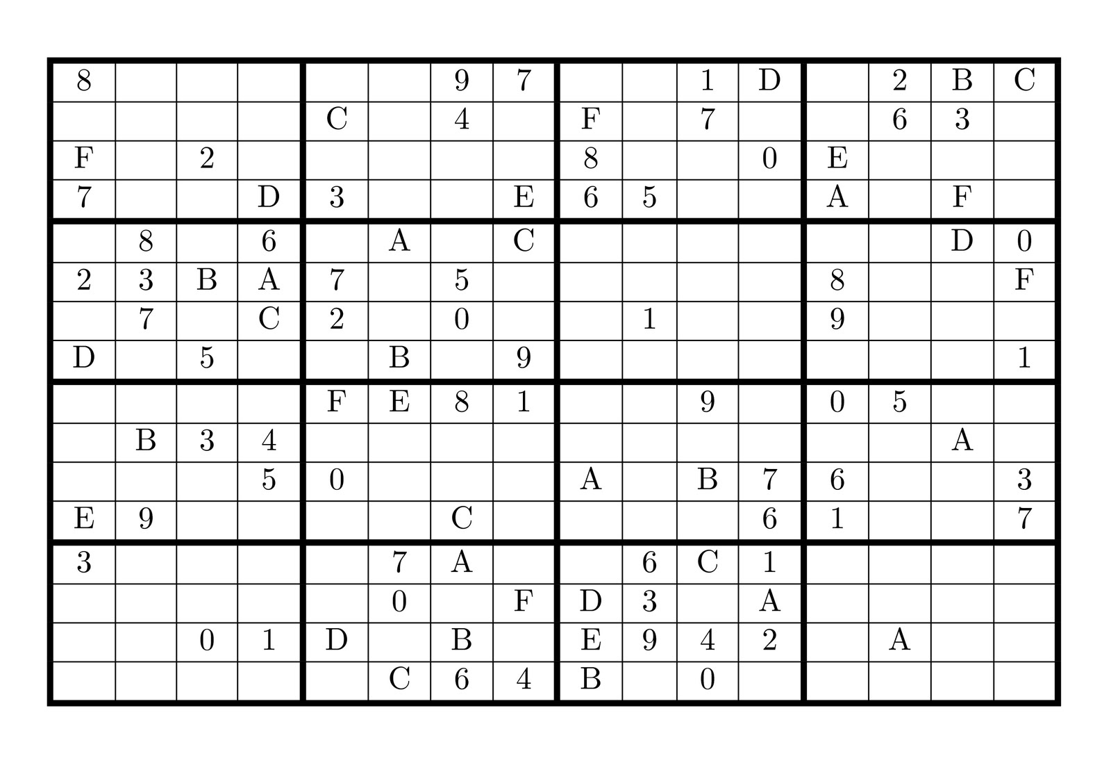 Sudoku With Letters And Numbers. The Daily Sudoku. Printable