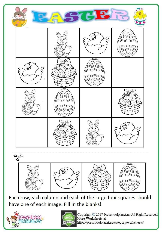 Sudoku Worksheets Pdf   Easter Worksheets, Puzzles For Kids