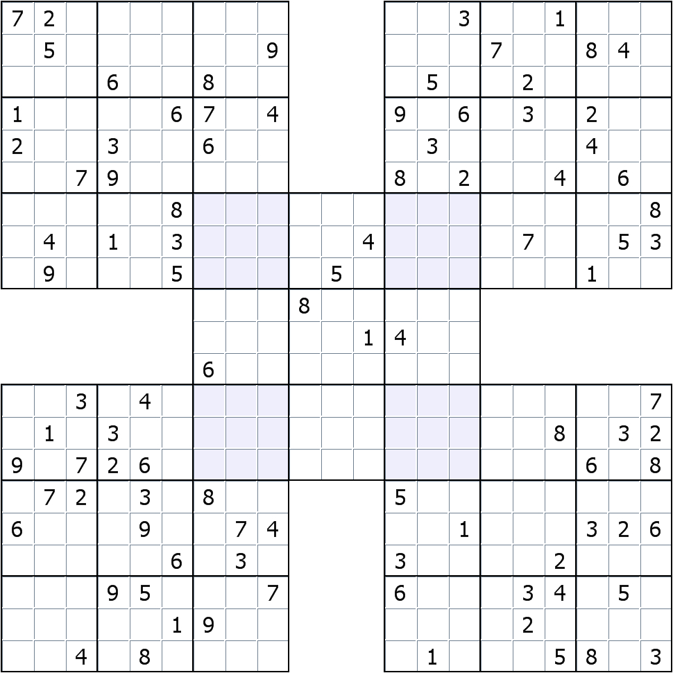 Sudokusolver Forum • View Topic - Ruud's Specialty Puzzles