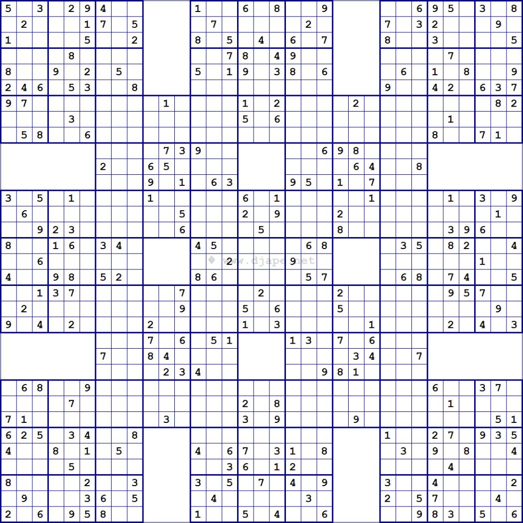 Super Samurai Sudoku 13 Grids | College Ideas | Sudoku