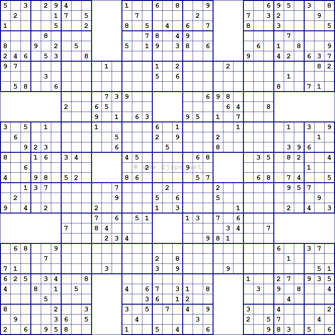 Super Samurai Sudoku 13 Grids | Játékok