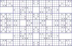 Free Printable 16 Square Sudoku
