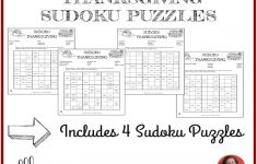 Thanksgiving Sudoku Puzzles
