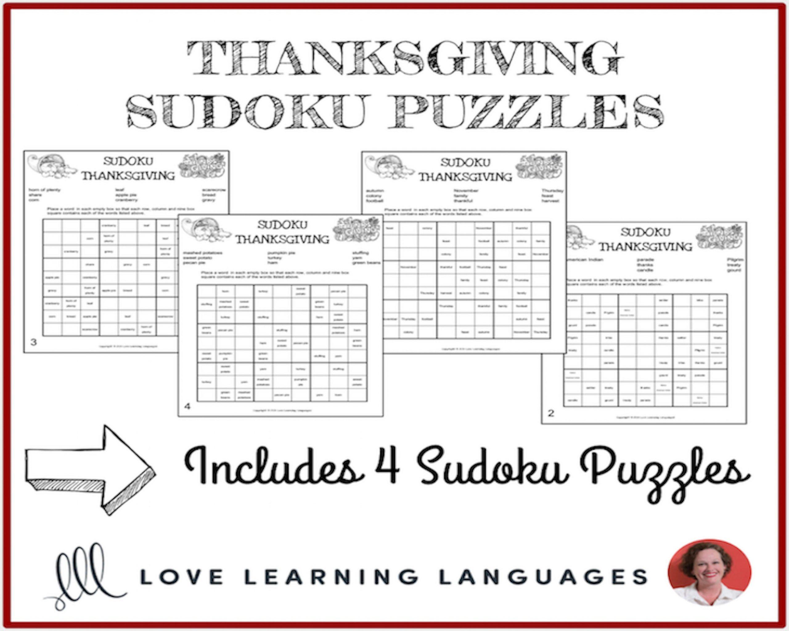Thanksgiving Sudoku Puzzles