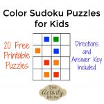The Activity Mom   Free Printable Color Sudoku Puzzles For