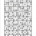 The Best Printable Blank Sudoku 4 Per Page | Dan's Blog