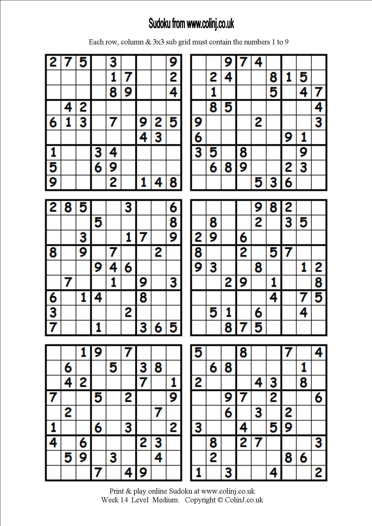 The Best Printable Blank Sudoku 4 Per Page | Dan's Blog