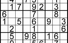 Printable 16 Number Sudoku