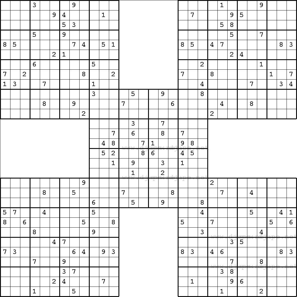 The Biggest Sudoku Ever | Sudoku, Sudoku Puzzles, Sudoku