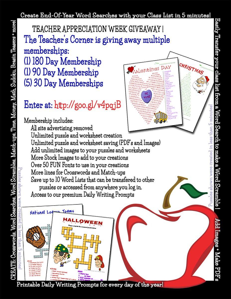 "The Teacher's Corner On Twitter: ""teacher Appreciation Week"