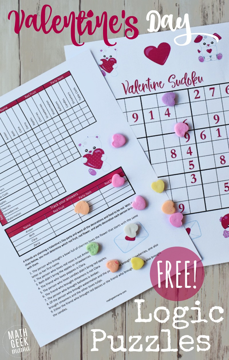 Valentine's Day Logic Puzzles For Kids {Free}