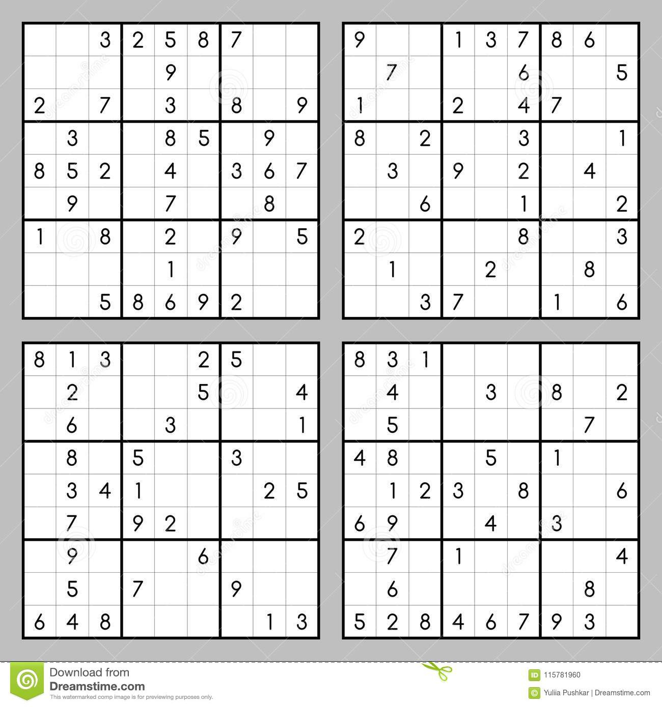 Vector Sudoku Game Stock Vector. Illustration Of Design