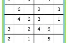 Math Sudoku Games Printable