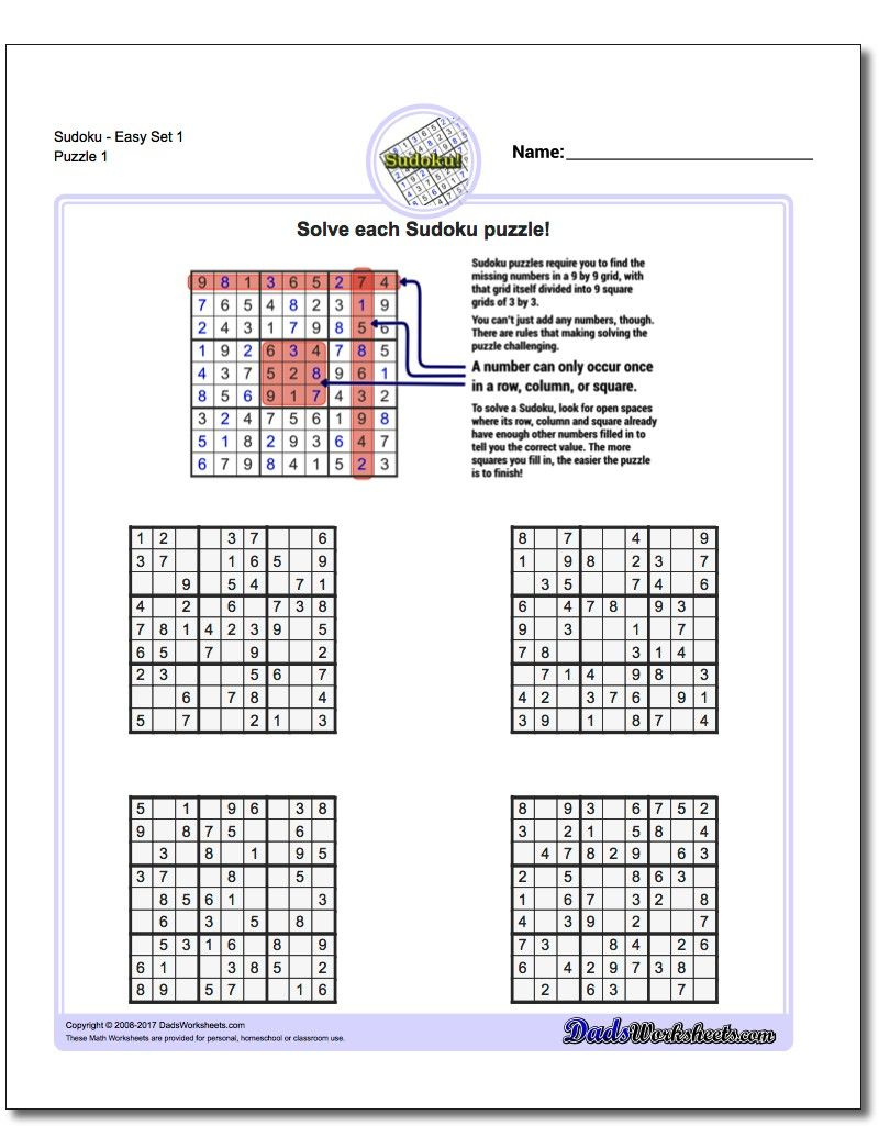 """When Learning Sudoku, """"easy"""" In The Puzzle Description Is"""