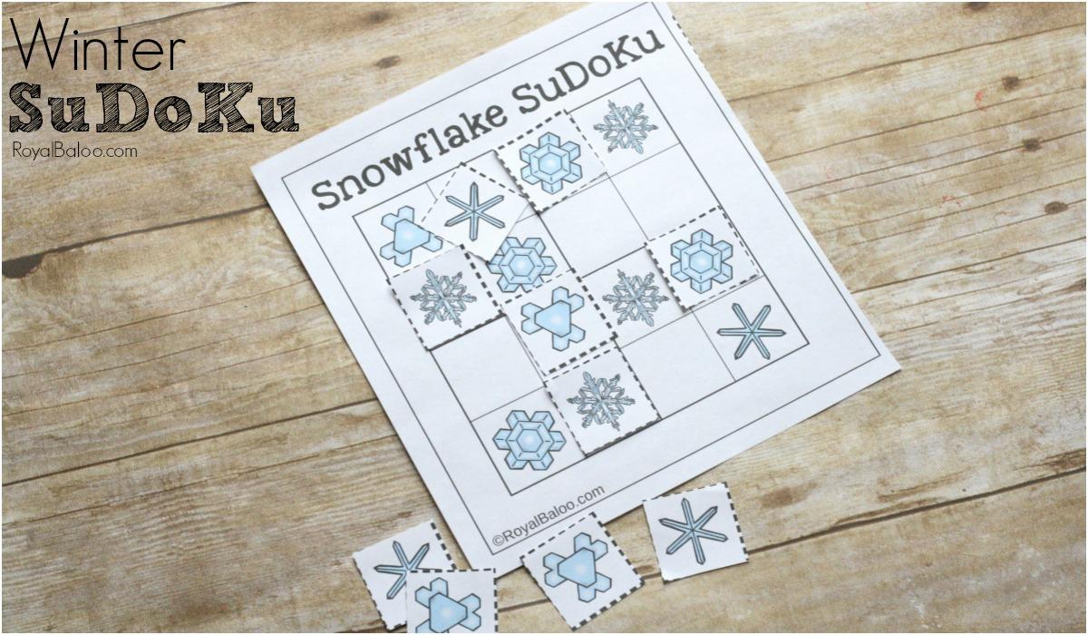 Winter Sudoku For Math Puzzle Fun - Royal Baloo